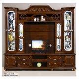 Einfacher Fernsehapparat-Standplatz hölzerner Fernsehapparat-Schrank im Wohnzimmer