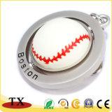 Цепь прелестно ротатабельного сплава цинка металла формы бейсбола ключевая
