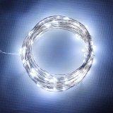 Lumière actionnée solaire flexible de chaîne de caractères de câblage cuivre de la qualité DEL