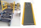 FRP Treppen-Schritt-Treppenstufe, Fiberglas-Treppen-Cover/GRP geformte Vergitterungen