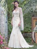 Vestido de casamento de perolização Strapless M201710 da sereia do Applique do laço do estilo 2018 novos
