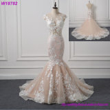 Vestido de casamento feito-à-medida barato de China da sereia do querido
