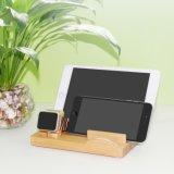Новейшие деревянная стойка для хранения данных с мобильного телефона, сенсорной панели, перо и смотреть с номером календаря
