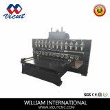8台のヘッド平らな及び回転式表移動木製CNCのルーター機械