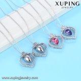 44171 Xuping Сердечка кристаллы с золотым покрытием белого цвета с кристаллами Swarovski Diamond подвесной ожерелья Ювелирные изделия