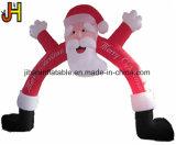 Bekanntmachen des aufblasbaren Weihnachtsbogens Weihnachtsmann für Dekoration
