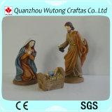 Decoratie van Kerstmis van de Hars van de Beeldjes van de Geboorte van Christus van Polyresin de Vastgestelde 3/S