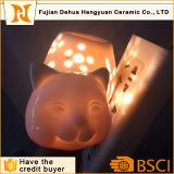 2 в 1 Cat формы керамические ночное освещение и приносил горелки