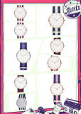 方法レディース・ウォッチの水晶男性用ステンレス鋼の腕時計(DC-1472)