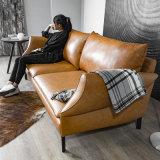 Un design moderne de 3 places canapé en cuir pour mobilier de maison (SC-X10)