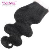 Yvonne 4*4 onda de Corpo Lace brasileira de fecho de cabelo humano
