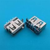 Quetschverbindenkarosserie USB-Verbinder des weibchen-SMT kurz