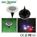 Lampe au sol actionnée solaire extérieure approuvée de Ce/RoHS 0.5W DEL