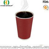 Напечатано колебания бумаги изолированный кофейные чашки