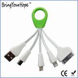 4 en 1 câble de remplissage de caractéristiques d'USB