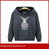 Soem-Form-kundenspezifisches polares Vlies-Sublimation Hoody Sweatshirt (T81)