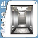 Todos os 304 elevador do passageiro da velocidade 1.75m/S do aço inoxidável com quarto da máquina