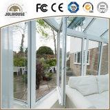 Porte en verre en plastique de la fibre de verre bon marché UPVC des prix d'usine de qualité avec des intérieurs de gril à vendre
