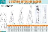 En131証明書が付いている3つのセクション折るアルミニウム梯子