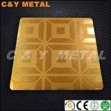 Strato decorativo dell'acciaio inossidabile 304 con i colori di vibrazione, acquaforte e dell'Ti-Oro