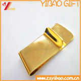 Preiswerter kundenspezifischer silberner Geld-Klipp für Geschäfts-Geschenke (YB-MC-02)