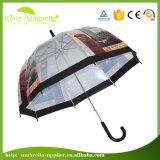 Los cabritos transparentes del paraguas de la alta calidad 21inch borran el paraguas