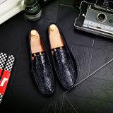 新しいワニライン豆は男性の韓国バージョン通気性の明るい皮の不精な運転の人の方法単一の製靴工場の直売に蹄鉄を打つ