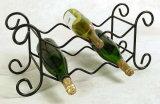 De unieke Greep van het Rek van de Wijn van het Metaal van het Smeedijzer Stapelbare 9 Flessen