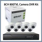 8CH 800tvl IR CCTVの機密保護のドームのカメラDvrkits