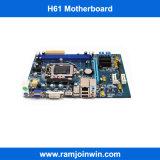 Support DDR3 1333 1066 800 Speicher geprüfte Minifall-Motherboards Itx-H61