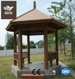 WPC зеленый павильон в саду строительных материалов