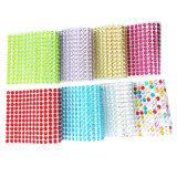 De zelfklevende Bergkristallen 5colors mengen de AcrylVersieringen van Scrapbooking van de Sticker van de Gem (tP-5colors)