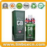 коробка олова вина подарка квадрата металла 70cl/700ml для джина Williams