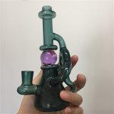 Tubo di fumo di vetro popolare dell'acqua del tabacco del riciclatore con i vari disegni