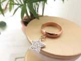 Anillo pendiente del tono del latón dos del cobre de la joyería de la manera de la dimensión de una variable brillante de la estrella para las mujeres