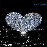 Toebehoren van de Auto van de Sticker van de Auto van het Kristal van het Hart van de Sticker van het kristal de Zelfklevende Tsjechische 3D (tP-Hart)
