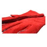 Перчатка работы заварки втулки красной коровы Split длинняя (6502)