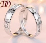 Les plus défunts hommes argentés de la valeur 925 de mariage de modèle de boucle de la vente en gros 2017 argentent des boucles de couples d'argent de bijou de diamant