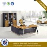 Escritorio de oficina tablero de madera de los muebles de oficinas de las piernas del metal (HX-D9043)