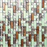 エクスポートの品質の皮および棒のBacksplashの壁のタイルのクリスタルグラスのモザイク