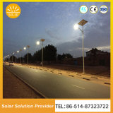 Luzes de rua solares da iluminação ao ar livre do diodo emissor de luz para o lote de estacionamento da estrada