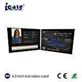 Горячая продавая форма 4.3 A5 A4 '' визитная карточка 5 '' 7 '' с LCD
