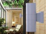 Levaram o cilindro para baixo na parede à prova de luz de parede Sconce Luminária para exterior