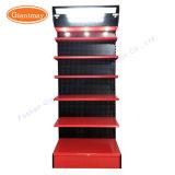 Marketing-MetallPegboard Autoteil-Hilfsmittel-Bildschirmanzeige-Zahnstange mit Regalen