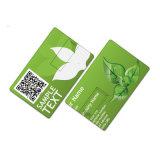 cadeau promotionnel par la carte de crédit blanc du lecteur flash USB USB de carte de visite professionnelle de visite de 128MB 1GB 2GB
