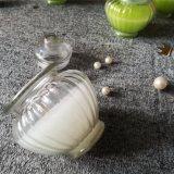 Candela di vetro di alta qualità del vaso dell'aroma del giglio bianco con il contrassegno
