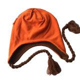 Дети детей Cute зимой плз печать теплые трикотажные Beanie открытый Earflap спицы крышки головки блока цилиндров вкладыши теплее Ski Aviator Red Hat (HW613)
