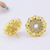 Pendiente de encargo plateado oro de la joyería de la manera elegante del Zirconia