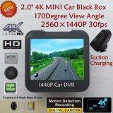 """2.0 """" câmera cheia confidencial da caixa negra do carro de HD 1440p com o carro DVR de Novatek 96660, G-Sensor, visão noturna, gravador de vídeo de estacionamento de Digitas do traço do carro do controle"""