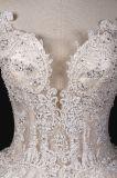 Vestido nupcial grande de perolização pesado de vestido de casamento da esfera da venda quente
